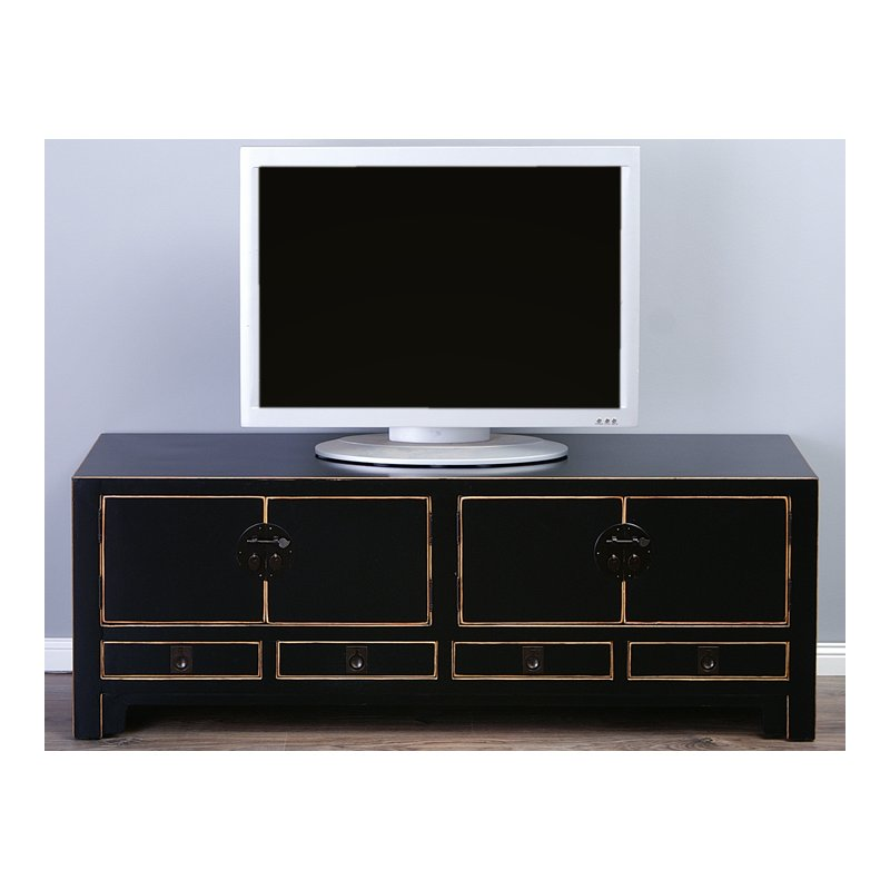 chinesisches sideboard lowboard schwarz. Black Bedroom Furniture Sets. Home Design Ideas