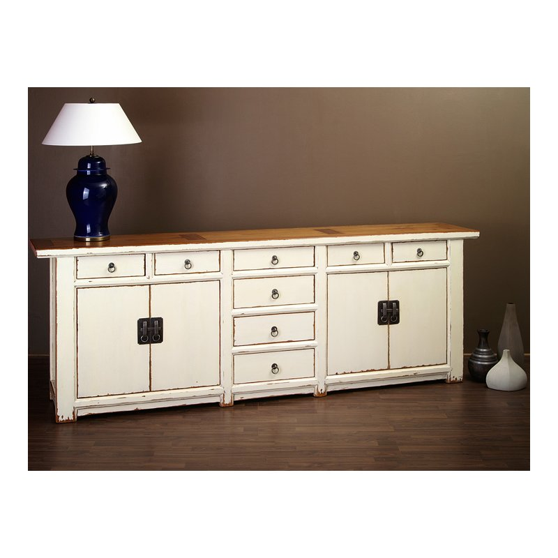 riesiges antikes chinesisches sideboard wei chinesische m bel. Black Bedroom Furniture Sets. Home Design Ideas